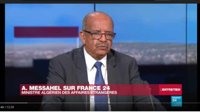 Elucubrations de Messahel qui se passent de commentaireq