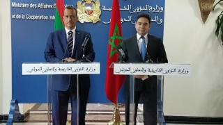 Nasser Bourita et M. Ismail Ould Cheikh Ahmed