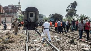 Collusion de train en Egypte